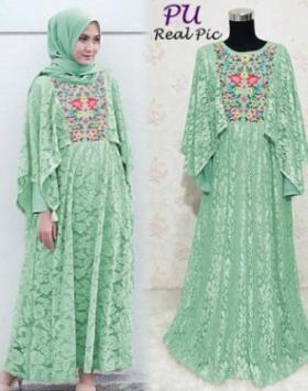 Busana Muslim Terbaru Dasera warna Mint Untuk Pesta Bahan Brukat Glitter