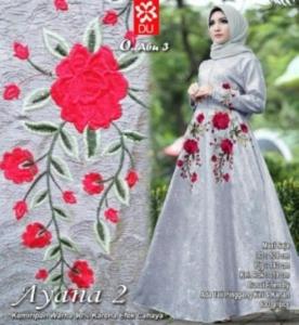 Busana Muslim Wanita Ayana 2 Syari Abu Bahan Jacquard