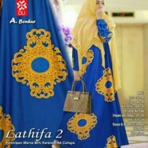 Gamis Cantik Lathifa 2 Syar'i Warna Benhur Dengan Bahan Maxmara