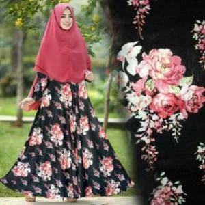 Gamis Lebaran Farzana New Syar'i warna Hitam