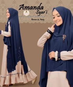 Gamis Muslimah Amanda Syar'i Bahan Maxmara