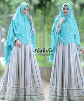 Gamis Muslimah Cantik Shabila Syar'i Bahan Monalisa