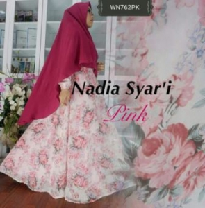 Gamis Pesta Terbaru Nadia Syar'i Bahan Ceruty