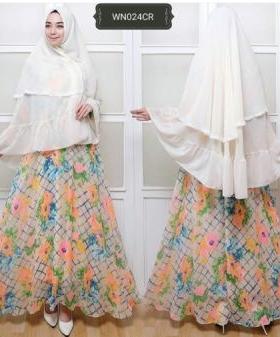 Baju Gamis Pesta Terbaru Kelly Syar'i Bahan Ceruty Lapis Furing