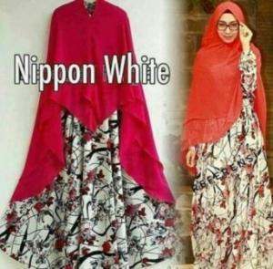 Baju Gamis Terbaru Modis Nippon Syar'i Bahan Monalisa