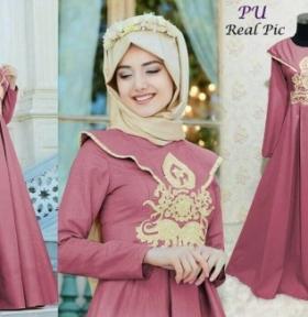 Baju Muslim Pesta Narisa Syar'i Warna Lavender Ukuran Kecil