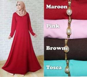 Baju Muslim Ukuran Besar Angun Zalina Bahan Wafle