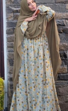 Baju Gamis Cantik Ilalang Syar'i Bahan Monalisa