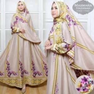 Baju Gamis Terbaru Dan Mewah Hazanah Syar'i-1 Bahan maxmara
