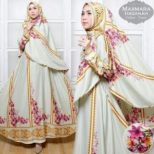 Baju Gamis Terbaru Dan Mewah Hazanah Syar'i-2 Bahan maxmara