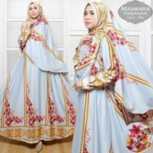 Baju Gamis Terbaru Dan Mewah Hazanah Syar'i-4 Bahan maxmara