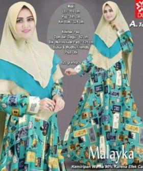 Baju Gamis Terbaru Dan Modis Malayka Syar'i Warna Tosca Bahan Maxmara