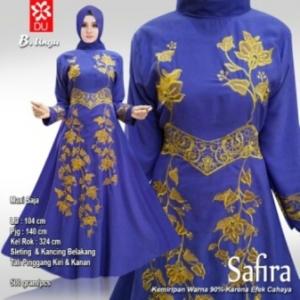 Baju Pesta Muslim Safira Warna Ungu Bahan Woolpeach