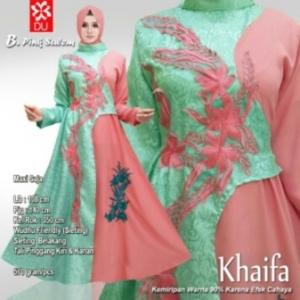 Busana Muslim Pesta Terbaru Khaifa Warna Pink Salem Bahan Jacquard