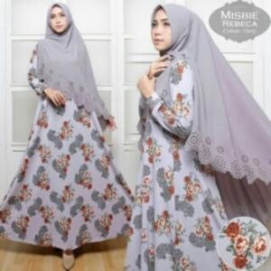 Busana Muslim Wanita Rebeca Syar'i-3 Bahan Misbie