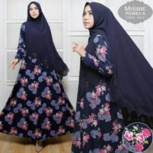 Busana Muslim Wanita Rebeca Syar'i-4 Bahan Misbie