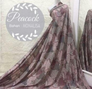 Detail Gamis Modern Peacock Syar'i Warna Dusty Pink Bahan Monalisa