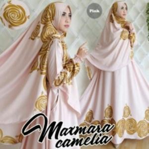 Gamis Cantik Camelia Syar'i Warna Pink Bahan Maxmara