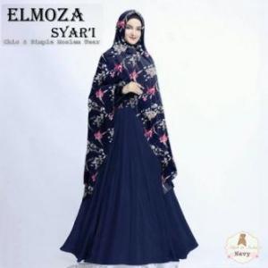 Gamis Elmoza Syar'i -1 Bahan Maxmara