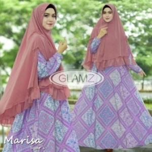 Gamis Muslimah Cantik Marisa Syar'i Warna Pink Bahan Monalisa
