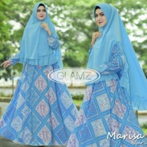 Gamis Muslimah Cantik Marisa Syar'i Warna Turkis Bahan Monalisa