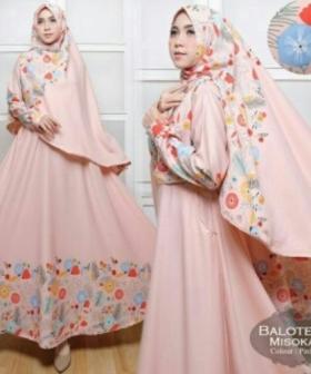 Agen Baju Gamis Terbaru Misoka Syar'i Warna Salem Bahan Baloteli Untuk Daerah Bintaro Dan Pamulang