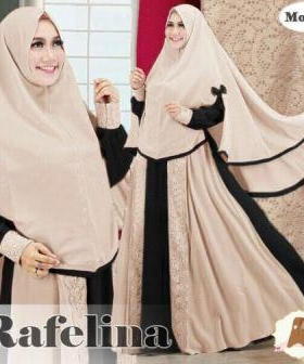 Distributor Baju Muslim Wanita Rafelina Syar'i Bahan Maxmara