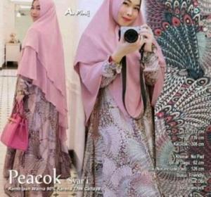 Distributor-Gamis-Peacock-Syari-Terbaru-Warna-Pink-Bahan-Balodior