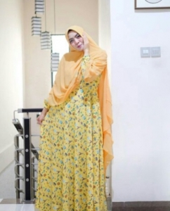 Jual Baju Gamis Cantik Model Terkini Cupcake Syar'i Bahan Monalisa