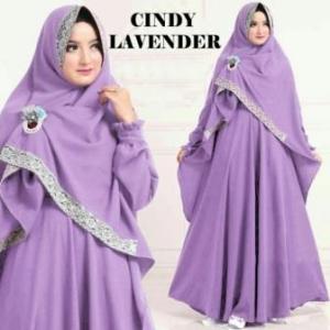 Jual Gamis online Murah Cindy Syar'i Warna Lavender Bahan Misbie
