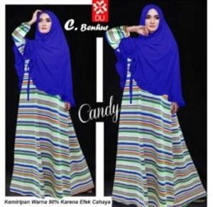 Jual Online Baju Muslim Wanita Candy Warna Benhur Bahan Spandex Rayon