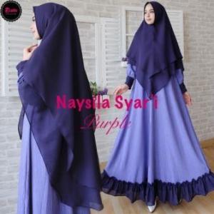 Jual Online Gamis Premium Naysila_1 Syar'i Bahan Rubia