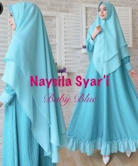 Jual Online Gamis Premium Naysila_2 Syar'i Bahan Rubia