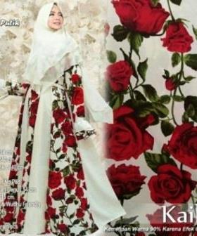 Supplier Gamis Pesta Kaila Syar'i Warna Putih Bahan Maxmara
