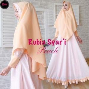 Supplier Gamis Premium Mewah Rubia Syar'i_2 Bahan Rubia Impor