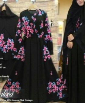 Baju Gamis Pesta Mewah Dealova Syar'i Bahan Monalisa