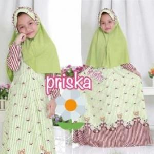 Baju Muslim Anak Perempuan Cantik Dan Lucu Prika Kids_3 Bahan Maxmara