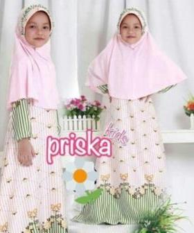 Baju Muslim Anak Perempuan Cantik Dan Lucu Prika Kids_5 Bahan Maxmara