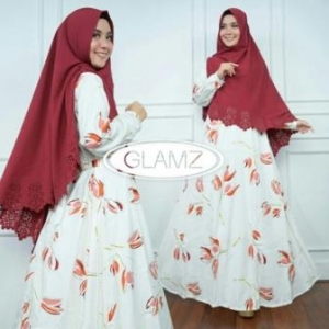 Distributor Baju Muslim Terbaru Navisha Syar'i Warna Salem Bahan Maxmara