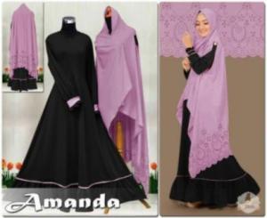 Distributor Baju Muslim Wanita Amanda Syar'i Ukuran Besar