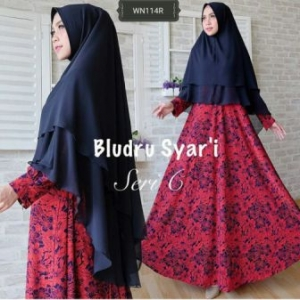Distributor Baju Pesta Muslim Jumbo Bludru Syar'i-2 Bahan Bludru