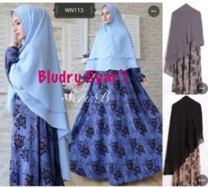 Distributor Baju Pesta Muslim Jumbo Bludru syar'i-3 Bahan Bludru