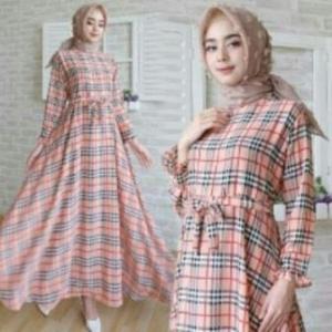 Jual Baju Gamis Terbaru Burberry Dress Ukuran Kecil Bahan Katun Clark