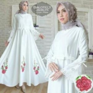 Jual Busana Muslim Terbaru Cantik Jacklyn-4 Bahan Balotelli
