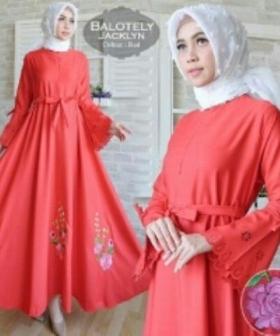 Jual Busana Muslim Terbaru Cantik Jacklyn-5 Bahan Balotelli