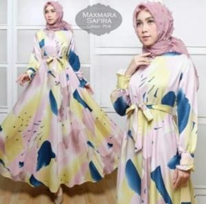 Jual Grosir Busana Muslim Murah Safira Warna Pink Bahan Maxmara