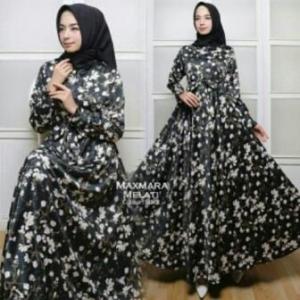 Jual Grosir BusanaMuslim Terbaru Melati Dress-2 Bahan Maxmara