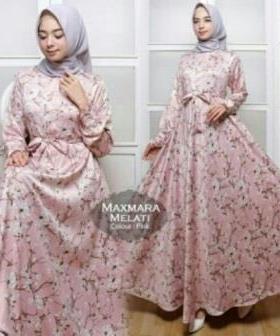 Jual Grosir BusanaMuslim Terbaru Melati Dress-5 Bahan Maxmara