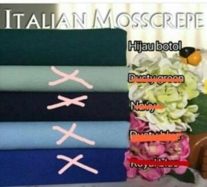 Jual Kain Italian Moss Crepe_1 Meteran Online