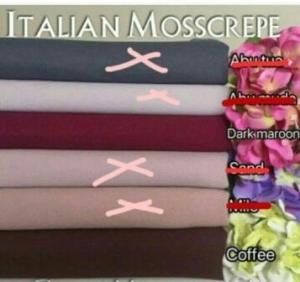 Jual Kain Meteran Online Italian Moss Crepe_3